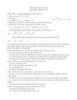 Trắc nghiệm chương sóng cơ vật lý 12 có đáp án