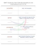 GMAT vocabulary flash cards143