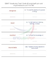 GMAT vocabulary flash cards560