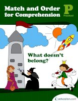 match and order for comprehension