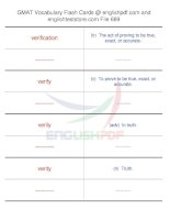 GMAT vocabulary flash cards689