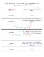 GMAT vocabulary flash cards600