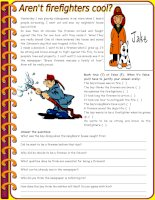 3443 arent firefighters cool  reading comprehension  grammar comparative of equality past simple vs past continuous 6 tasks keys included 3 pages editable