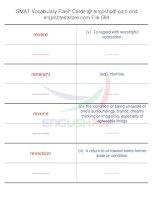 GMAT vocabulary flash cards584
