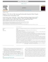 Impact of tai chi on falls among preclinically disabled older people  a randomized controlled trial