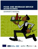 Waiter learner manual english