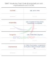 GMAT vocabulary flash cards332