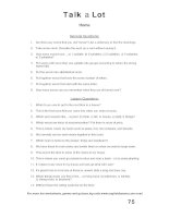 talk a lot 1 question sheet home
