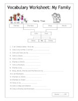 21239 vocabulary worksheet  my family easy