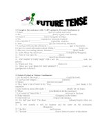 1032 future tense exercises