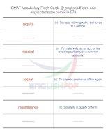 GMAT vocabulary flash cards578