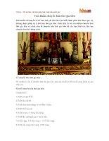 Văn khấn chuyển bàn thờ gia tiên