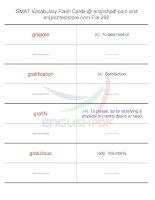 GMAT vocabulary flash cards292