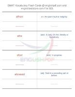 GMAT vocabulary flash cards23