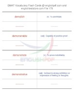 GMAT vocabulary flash cards170