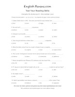 complete the sentences intermediate level 5