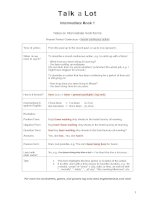 talkalot intermediate book 1 present perfect continuous