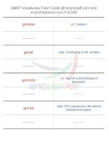 GMAT vocabulary flash cards285