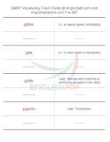 GMAT vocabulary flash cards287