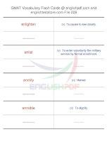 GMAT vocabulary flash cards228