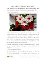Những món quà ý nghĩa tặng mẹ ngày 20-10