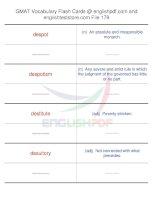 GMAT vocabulary flash cards179