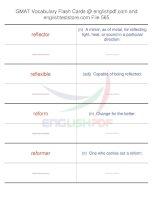 GMAT vocabulary flash cards565
