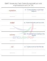 GMAT vocabulary flash cards154