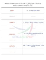GMAT vocabulary flash cards236