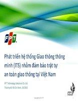 Phát triển hệ thống Giao thông thông minh (ITS) nhằm đảm bảo trật tự an toàn giao thông tại Việt Nam