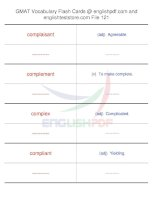 GMAT vocabulary flash cards121