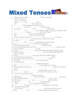 14547 mixed tenses 2 pages key included