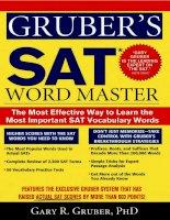 Grubers SAT word master