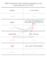 GMAT vocabulary flash cards505