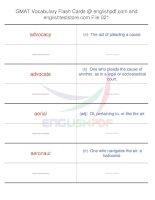 GMAT vocabulary flash cards21