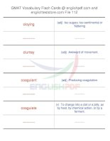 GMAT vocabulary flash cards112