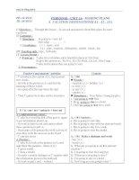 Giáo án Tiếng Anh 6 unit 14: Making plans