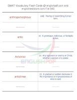 GMAT vocabulary flash cards43