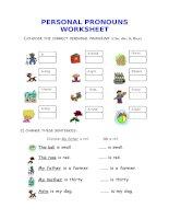 2309 personal pronouns worksheet