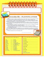 3465 lets read and write about  2  everyday lifeplanning a week