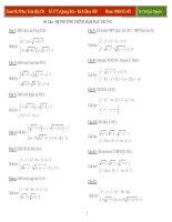 50 câu  HPT hàm đặc trưng