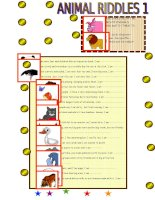 islcollective worksheets beginner prea1 elementary a1 kindergarten elementary school reading spe animal riddles1 182530318356449f904b1e06 22585228