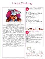 islcollective worksheets elementary a1 elementary school reading writing food reading co i love cooking 201443651254400e5b421483 46482953