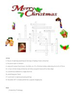 14969 merry christmas crossword