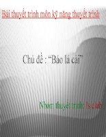 Đề tài : Thực trạng về báo lá cải ở Việt Nam