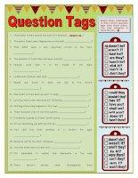 islcollective worksheets preintermediate a2 intermediate b1 adults high school question tags verb tenses grammar drills  954607231576d308621eaf4 97730211