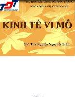 GIÁO TRÌNH KINH tế VI mô   đh tôn đức THẮNG