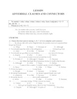 ADVERBIAL CLAUSES AND CONNECTORS