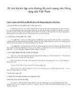 20 câu hỏi ôn tập môn ĐƯỜNG lối CÁCH MẠNG của ĐẢNG CỘNG sản VIỆT NAM
