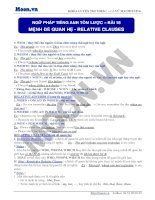 NGU PHAP TIENG ANH TOM LUOC – BAI 18 RELATIVE CLAUSES
